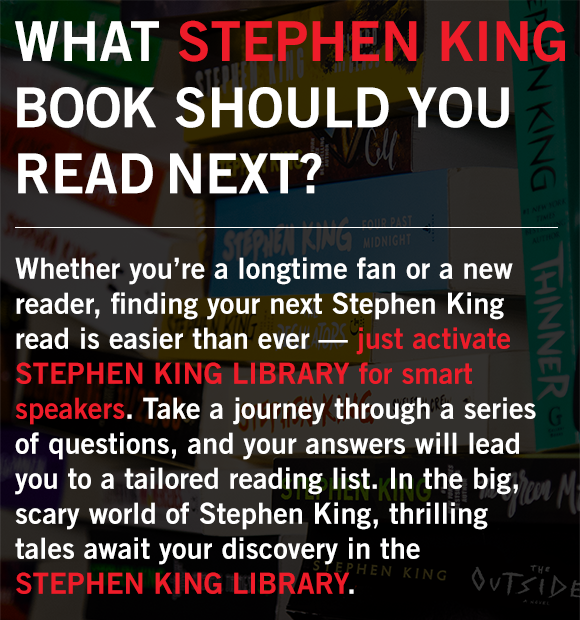 Activate STEPHEN KING LIBRARY for smart speakers